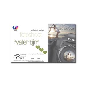 cadeaubon Valentijn fotoshoot 3u