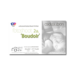 cadeaubon fotoshoot Boudoir 2u